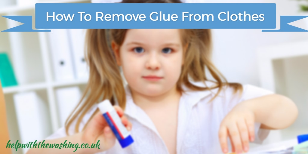get glue from clothes