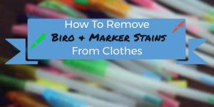 remove biro permanent marker