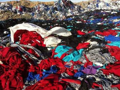 clothes landfill